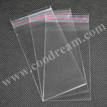 2016 wholesale high quality custom self adhesive clear opp plastic card sleeves