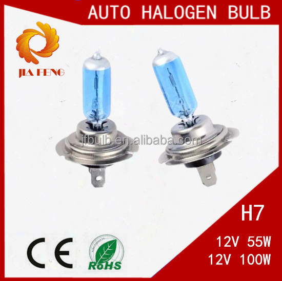 China Factory Supplier Superwhite H7 Auto Halogen Lamp,Quartz glass & Stainless iron base, Car accessories