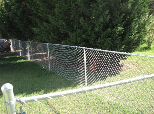 galvanized 9 gauge chain link wire mesh fence , 5 foot plastic coated chain link fence