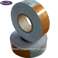 white and yellow self-adhesive reflective tape