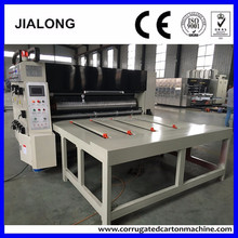 chain line feeding carton printing machine / corrugated cardboard 4 colors printer&slotter&rotary die cutter
