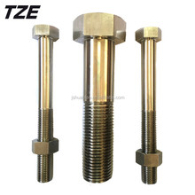 High quality 1.4529 904L Titanium steel stainless steel hex bolts and nuts