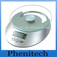electronic kitchen scales (glass platform 5kg d/0.5g)