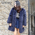 CX-G-A-34 Winter Soft Touch Women Real Raccoon Fur Coat
