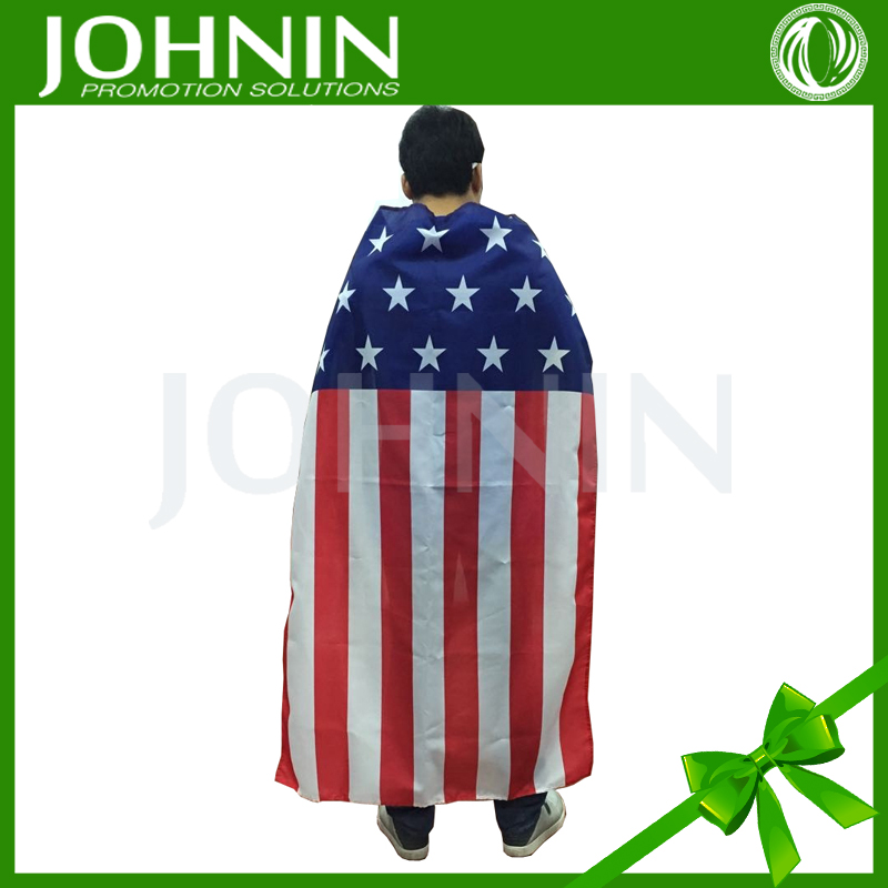 Custom Made Promotional Gifts Patriotic American Flag Cape
