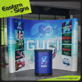 3x3 Curved Aluminum Pop Up Display Backdrop