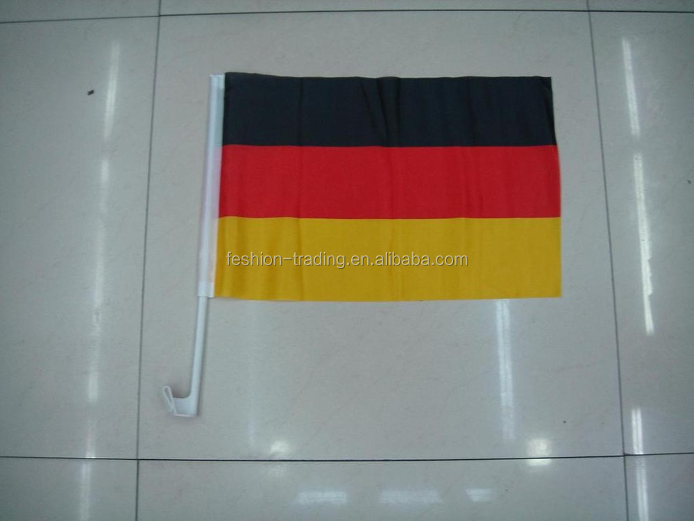Cheap custom Germany eagle 30*45 cm car window flags with plastic pole