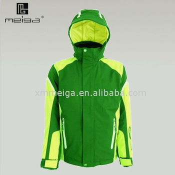 newest stylish nylon shell warm kept windproof guy's ski jacket for 2012 ispo show