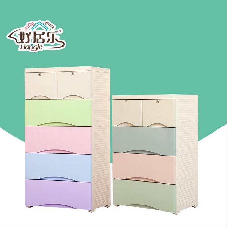 5 tiers Plastic Baby Home Drawer