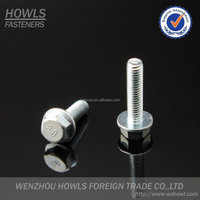 High quality carbon steel stainless steel DIN 6921 hex washer head bolt