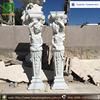 Stone carving cheap white marble caryatids 2.4 meters high