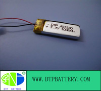 3.7v small li-polymer rechargeable battery 500mah 401230