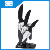 4pcs ceramic knife set kitchen with knife holder