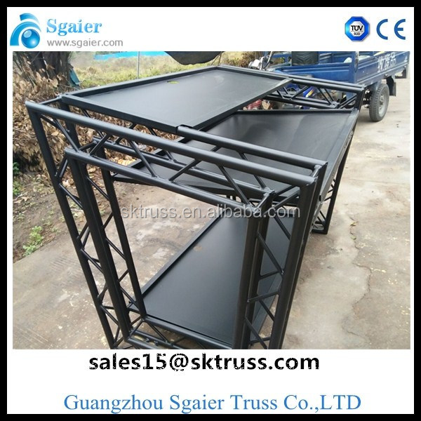 smart led curtain dj booth truss for DJ booth in Sgaier TRUSS factory
