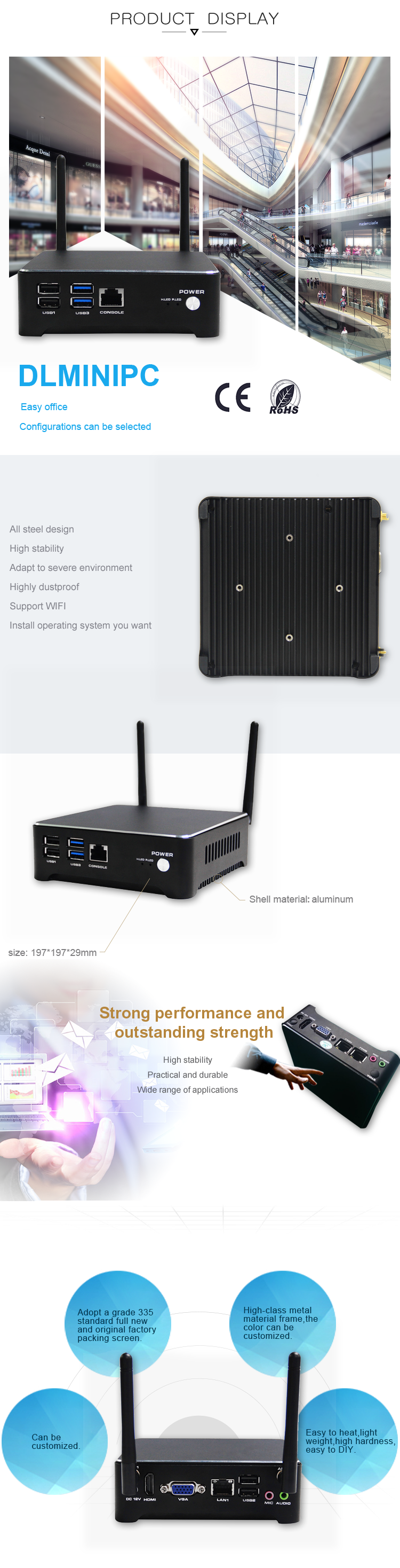 Quad Core 2.0Ghz all in one mini PC