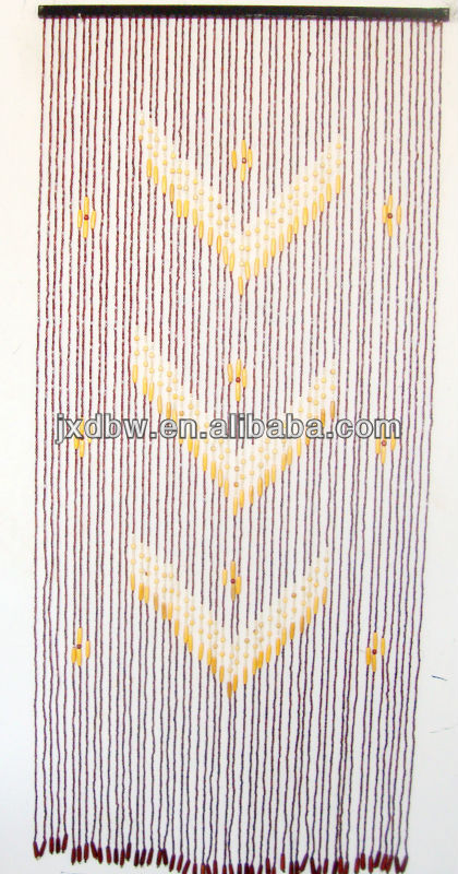 90x200CM/60strings With Animal Natural Bamboo Decorative Bead Curtain
