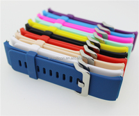 Colorful silicone rubber 24mm curved watch strap manufacturer