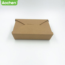 Popular compostable take out food paper packing noodle kraft box