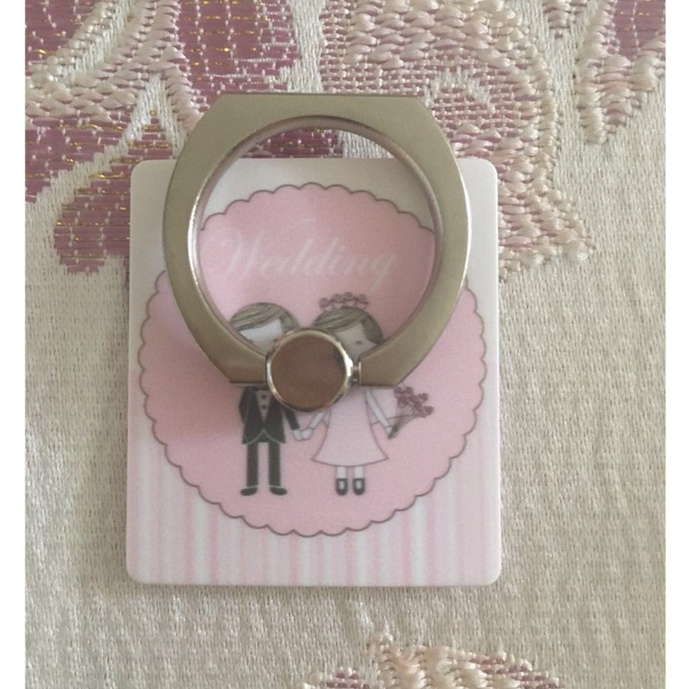 Cheap wedding door gift give away customzied printing finger ring phone stand