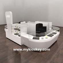 Newest jewelry mall sales kiosk, jewelry showcase, jewelry display stand