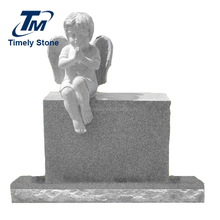 Timely granite angel baby headstone monument tombstone