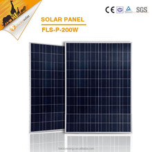 High quality 200w poly A grade stand aluminum frame mounting solar panel