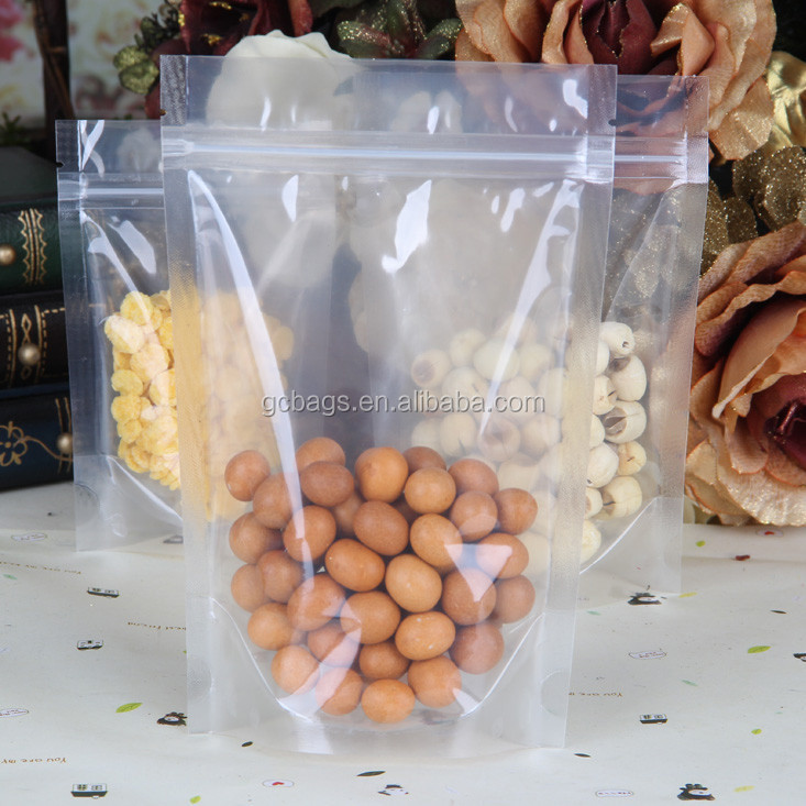 Available Goods for OPP/PE Clear stand up pouch with zipper