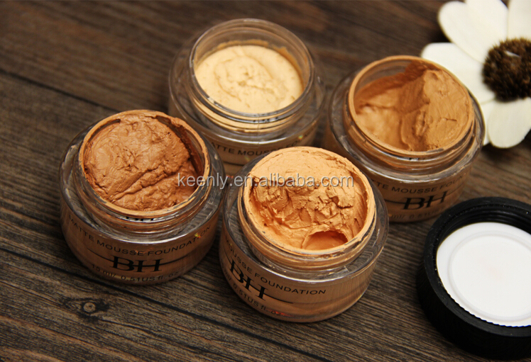 Professional waterproof matte musse makeup foundation/matte makeup base/makeup cosmetics foundation with customized service