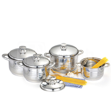 Hot selling stainless steel soup pot, OEM Cookware, 8pcs Stainless steel Cookware set