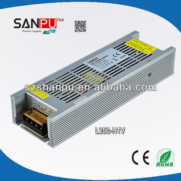 Shenzhen SANPU CE ROHS approved 250W 12v led power transformers driver for led bulb set top box power supply