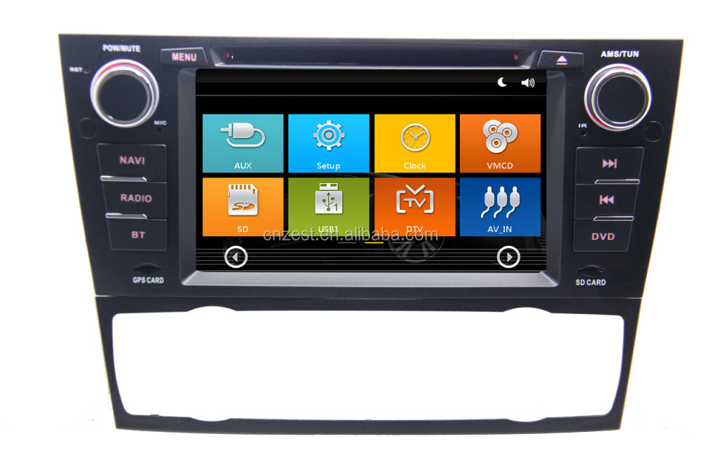 auto steering wheel for BMW E81 AUTO with Rear View Camera GPS BT TV Radio RDS