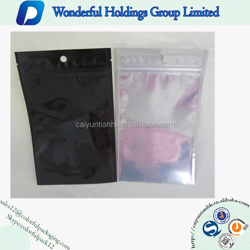 Front Clear Aluminum Foil zip Lock Bag Food Pack Plastic Bag For Nuts