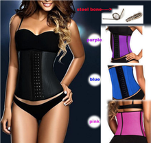 Classic 3 hooks latex waist cincher shapewear, latex corsets sale, sexy body shaper and garter