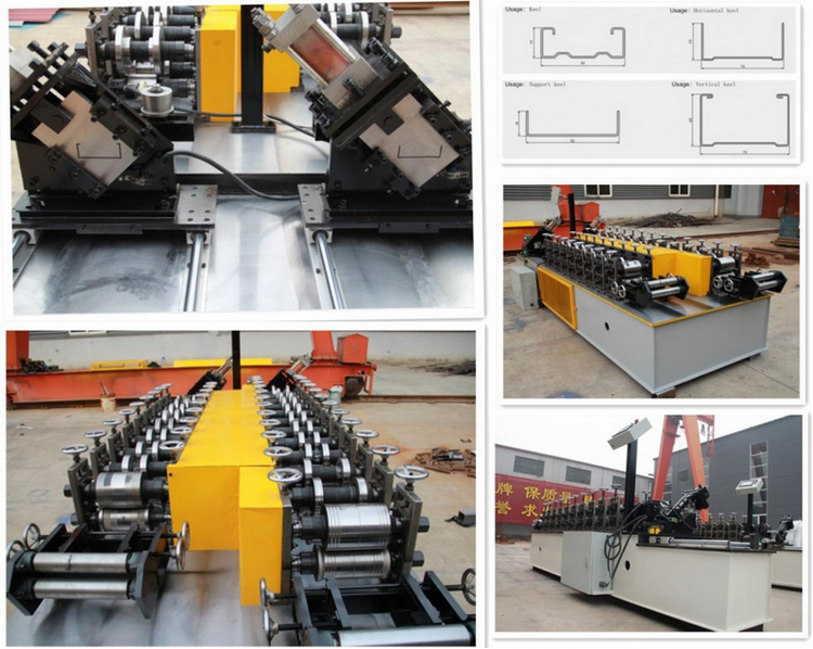 channel ceiling making machine combined light keel roll forming machine