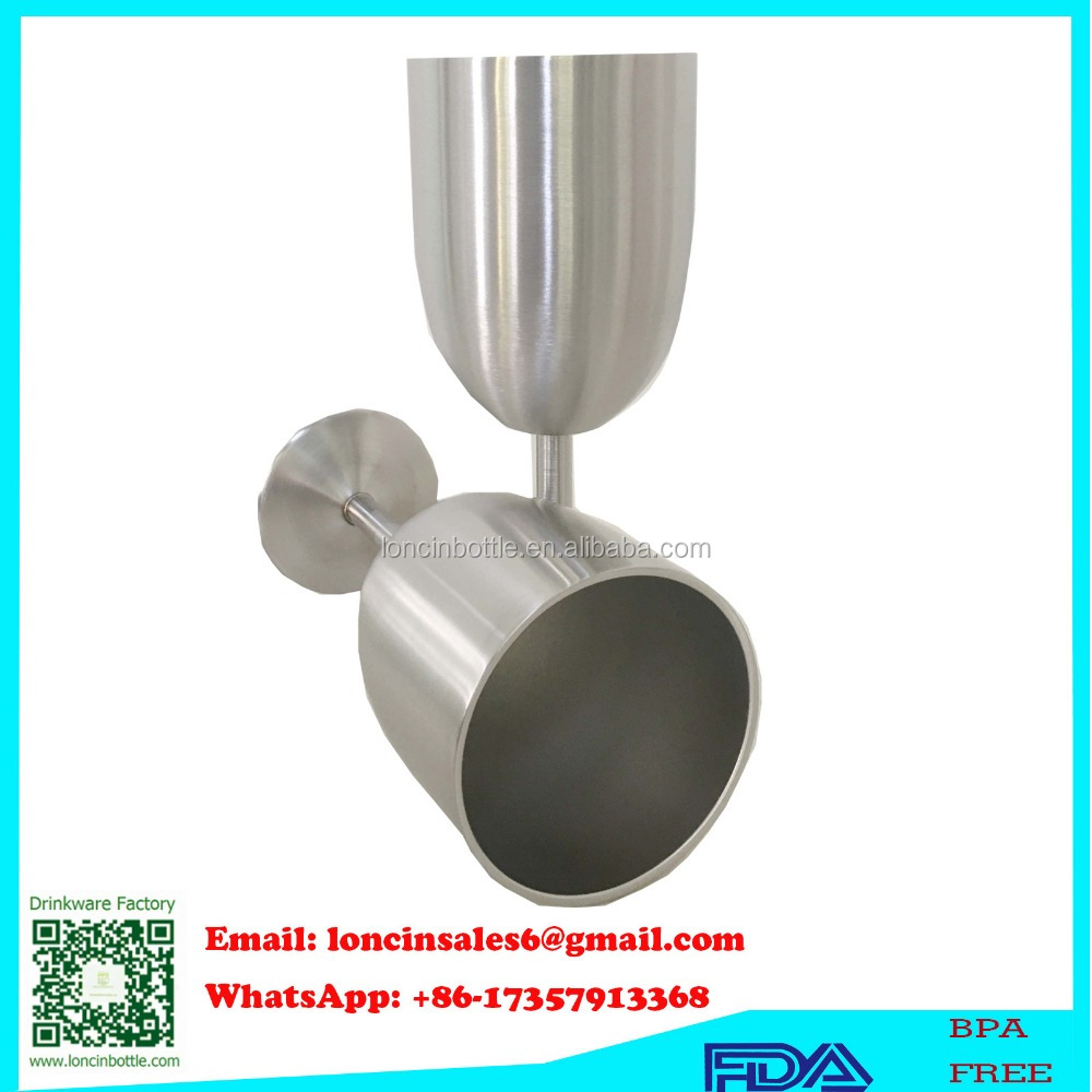 Double Wall Vacuum Insulated Goblet, Stainless steel Standing wine cup