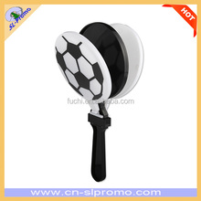 Promotional Cheap Plastic Football Design Hand Clapper