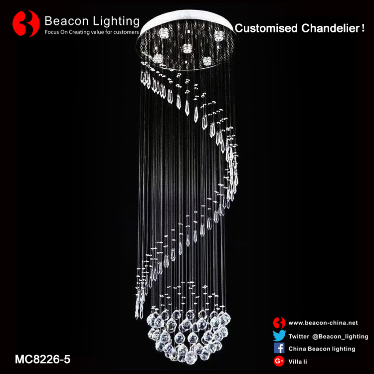 fashion designer ideas Luxury morden crystal hanging pendant light chandelier lamp lighting for home dining hall decor MC8226-5