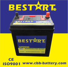 12V Dry Car battery NS40ZL-MF