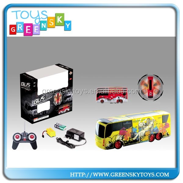 360 Degree RC 5CH Stunt Bus Rotate Bus With Light For Wholesale