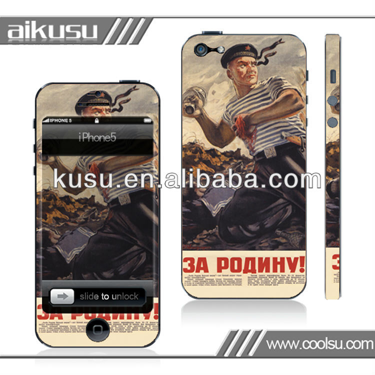 For iphone5 removable electrostatic sticker wholesale price