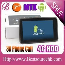 3g tablet with 7 inch Capacitive touch screen WCDMA Web camera Android OS