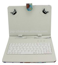 Fancy !!!leather case keyboard With a spring - stand to fix tablet PC