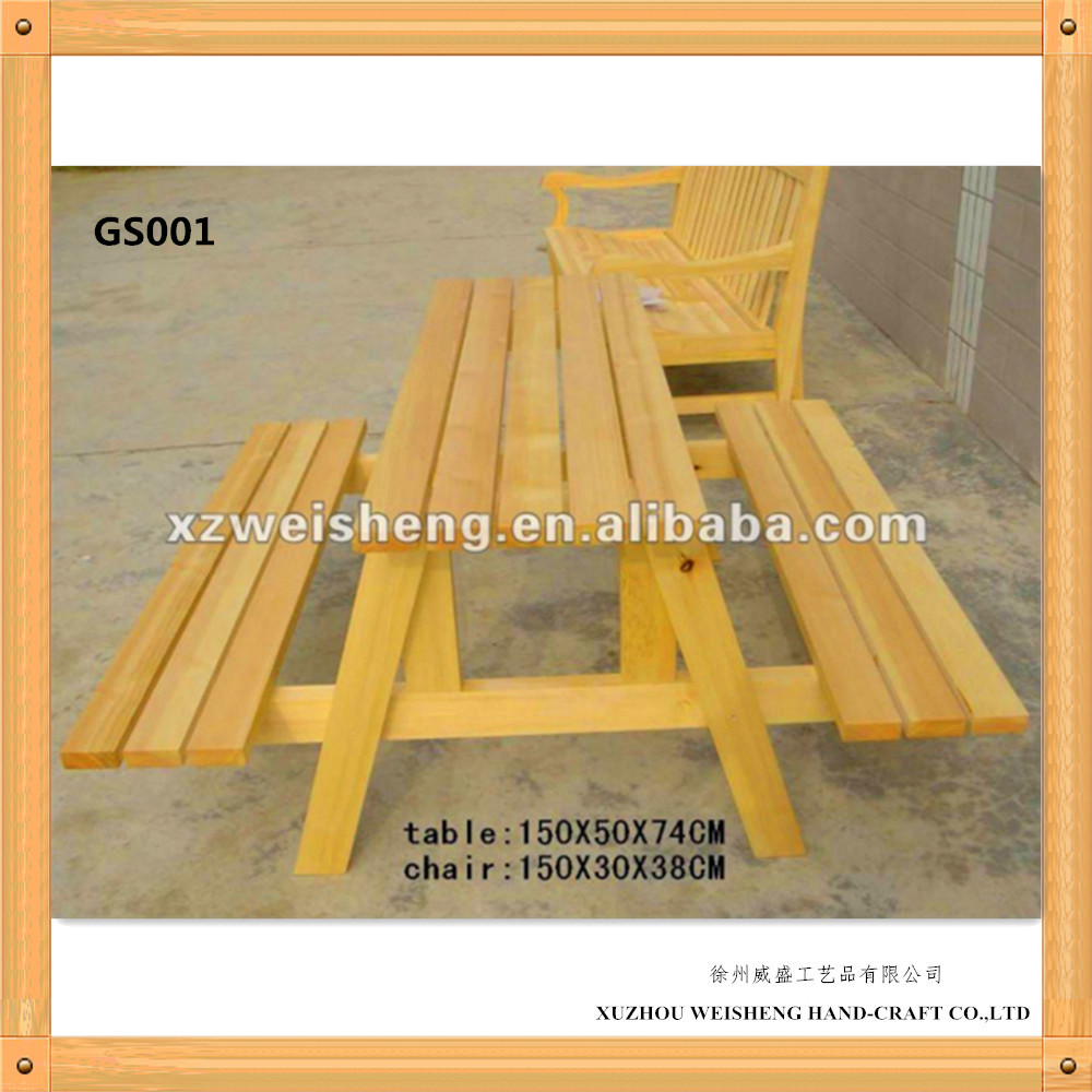 Wooden outdoor picnic Garden Table and Bench