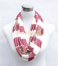New Soccer cotton jersey knitted infinity wholesale scarf 4 colors delivery within 3 working days