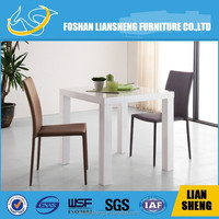 Luxury long narrow Japanese wooden glass top dining table A2091S00-10+B2095A00-10