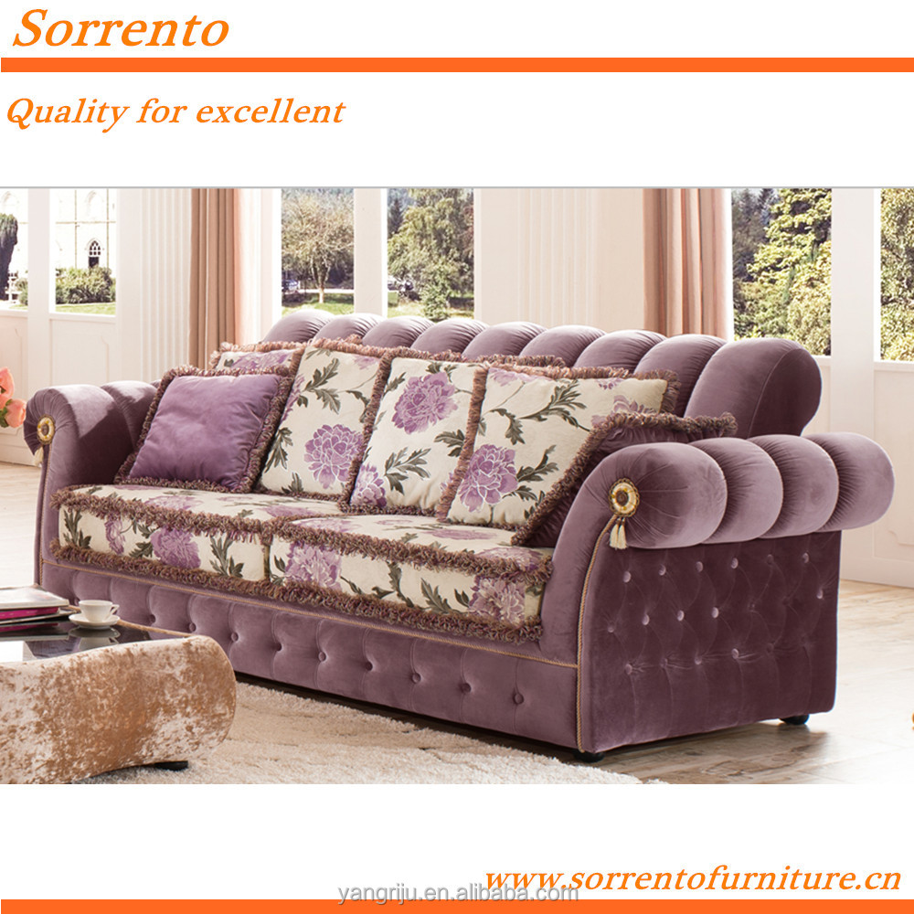 565A#-3S Modern Elegant Moroccan Luxury palace chesterfield furniture living room Sofa
