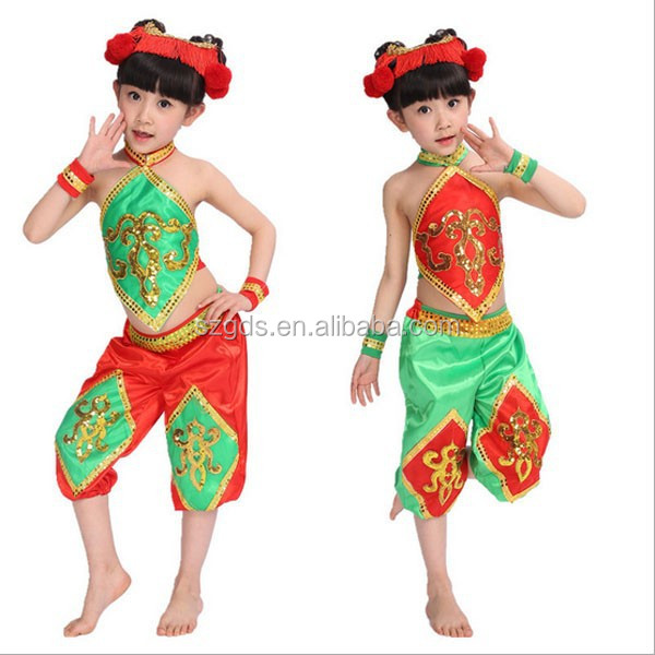 2015 newest girls National dance belly costumes and Yangko suit