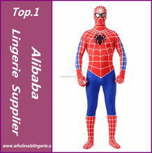 2017 new arrives Classic Red and Blue Lycra Spiderman Zentai Suits