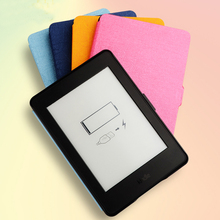 Cheap kindle voyage kindle tablet touch flip leather case cover with auto wake sleep function 8 colors