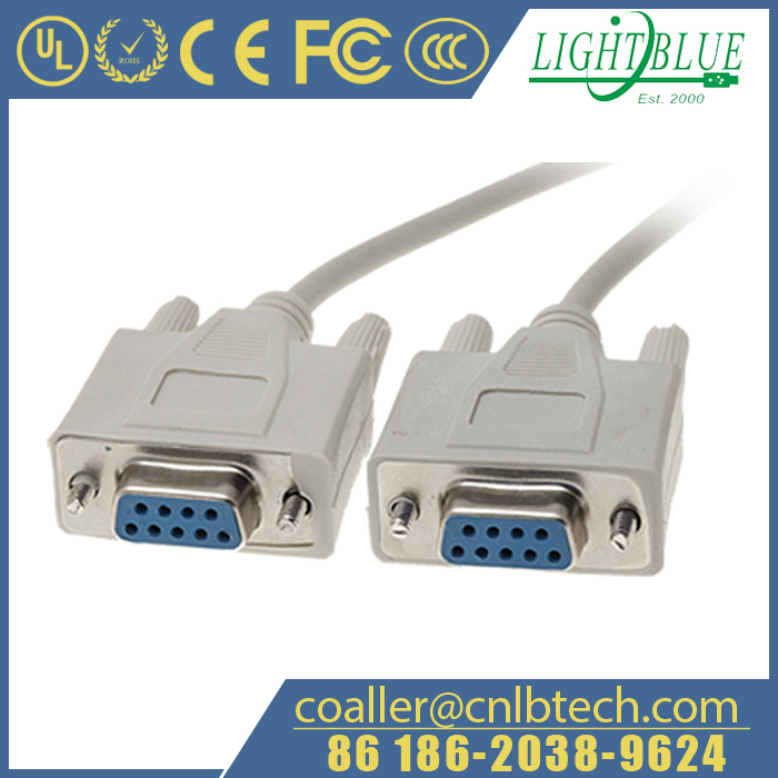 RS-232 Null Modem Cable DB9F to DB9F DTE to DTE
